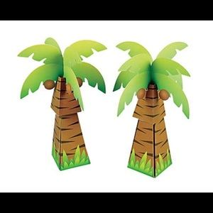 NWT Palm tree favor boxes package of 12